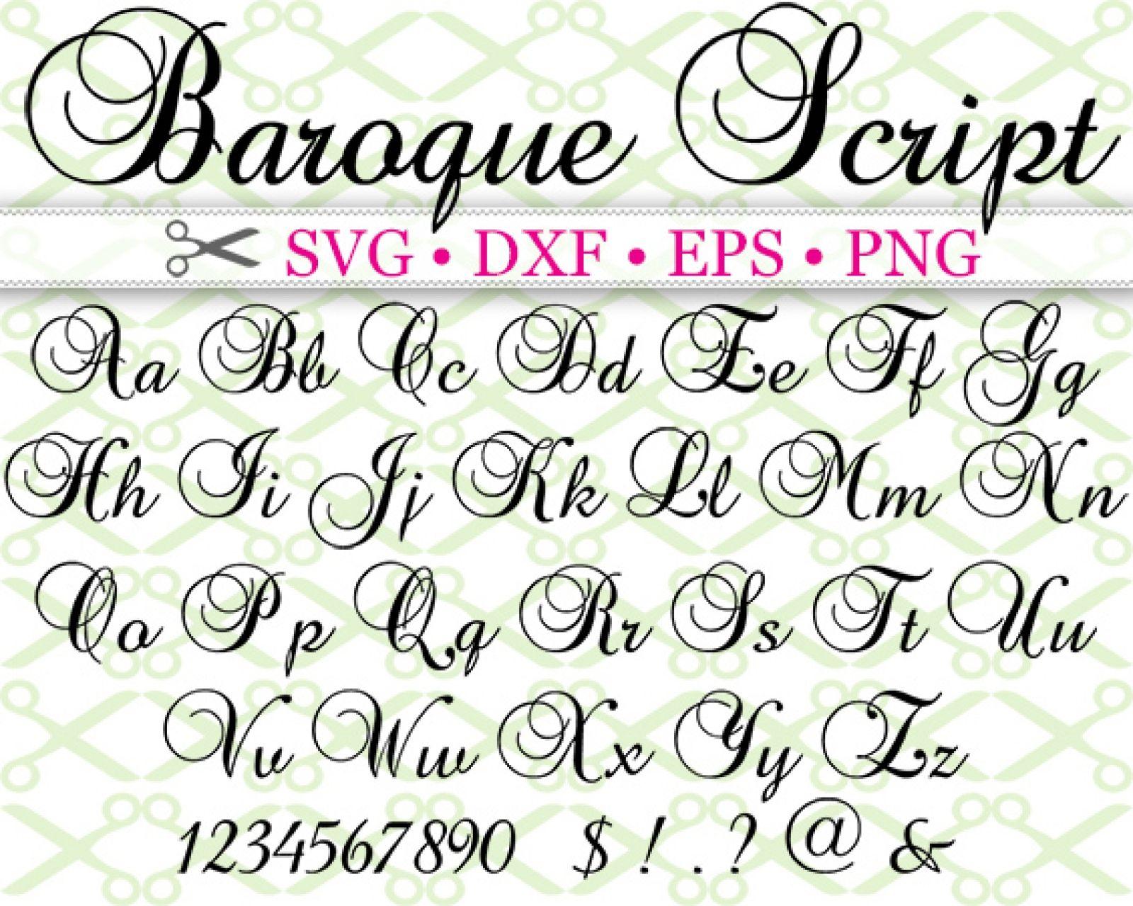 Baroque Script Svg Font With Images