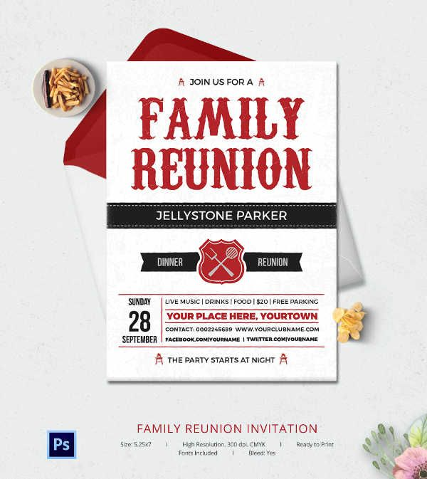 32+ Family Reunion Invitation Templates - Free PSD, Vector EPS - flyer invitation templates free