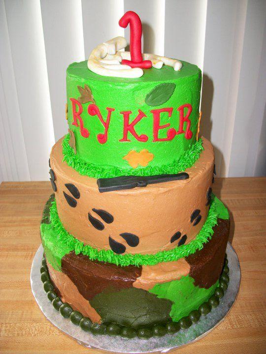 camo birthday Cake Ideas for Men Hunter Birthday Cake