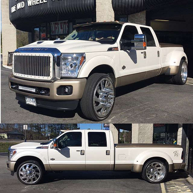 Sheesh I love a nice dually !! Check out this Nasty F-350 my guys over at @ButlerTire did ! Air Ride ...
