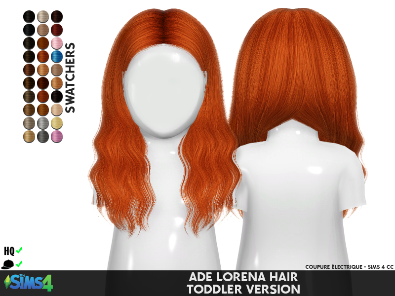 Sims Bambino Bagno : Ade lorena hair toddler version redheadsims cc cose di the