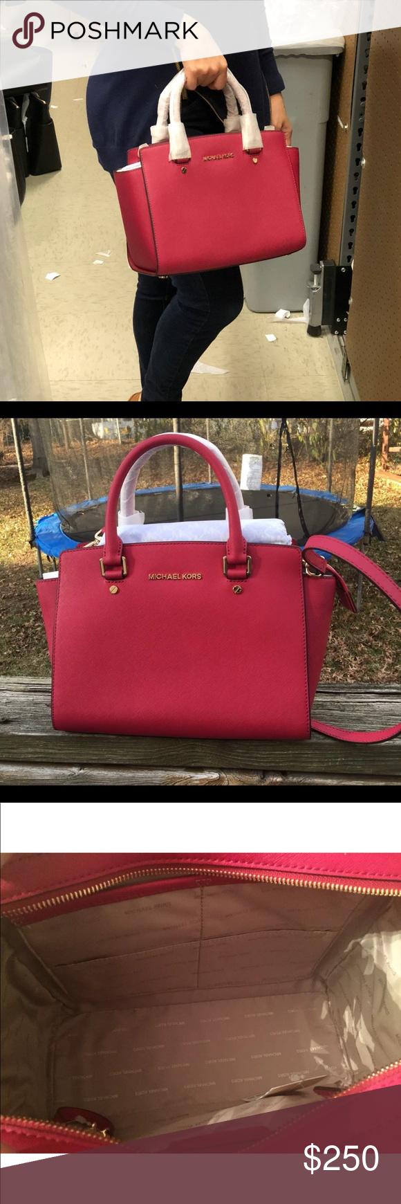 c16c3f2bb602 Michael kors cranberry Selma medium satchel bag Get a handle on timeless  style with treasured Selma