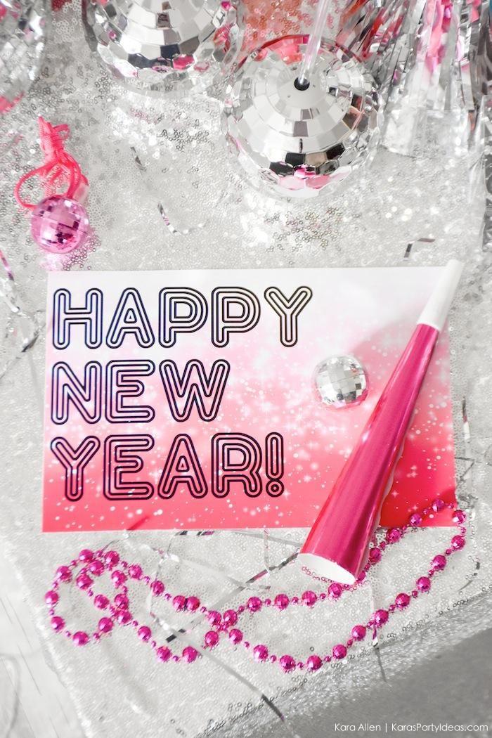 New Year's Eve Disco Party! FREE NYE Printables! Kara's