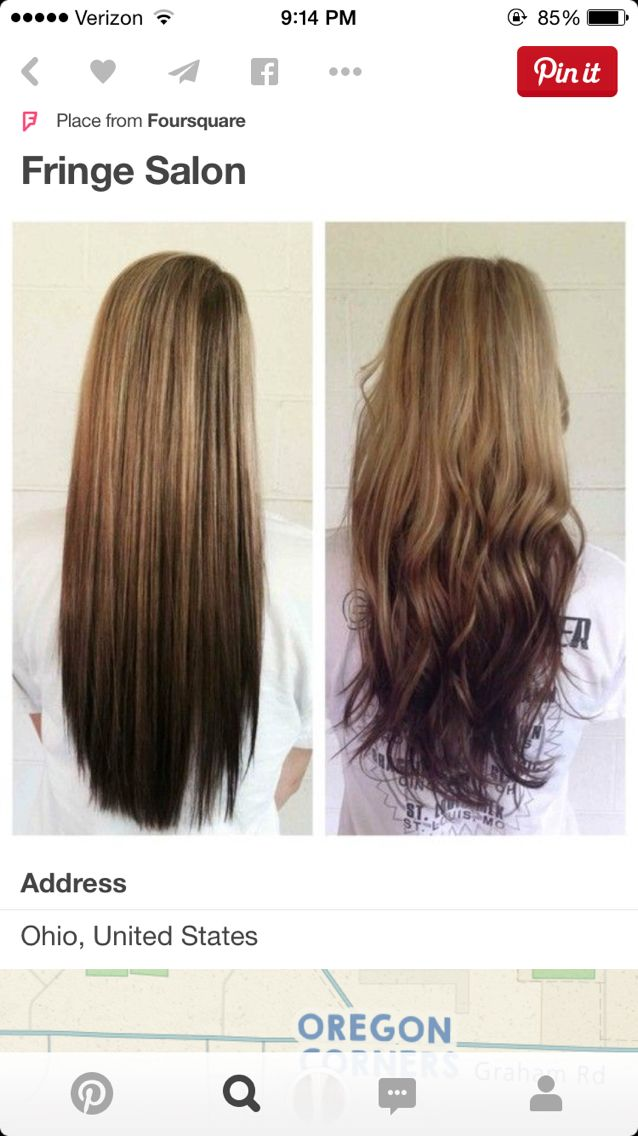 Reverse Ombre My Style In 2019 Ombre Hair Hair