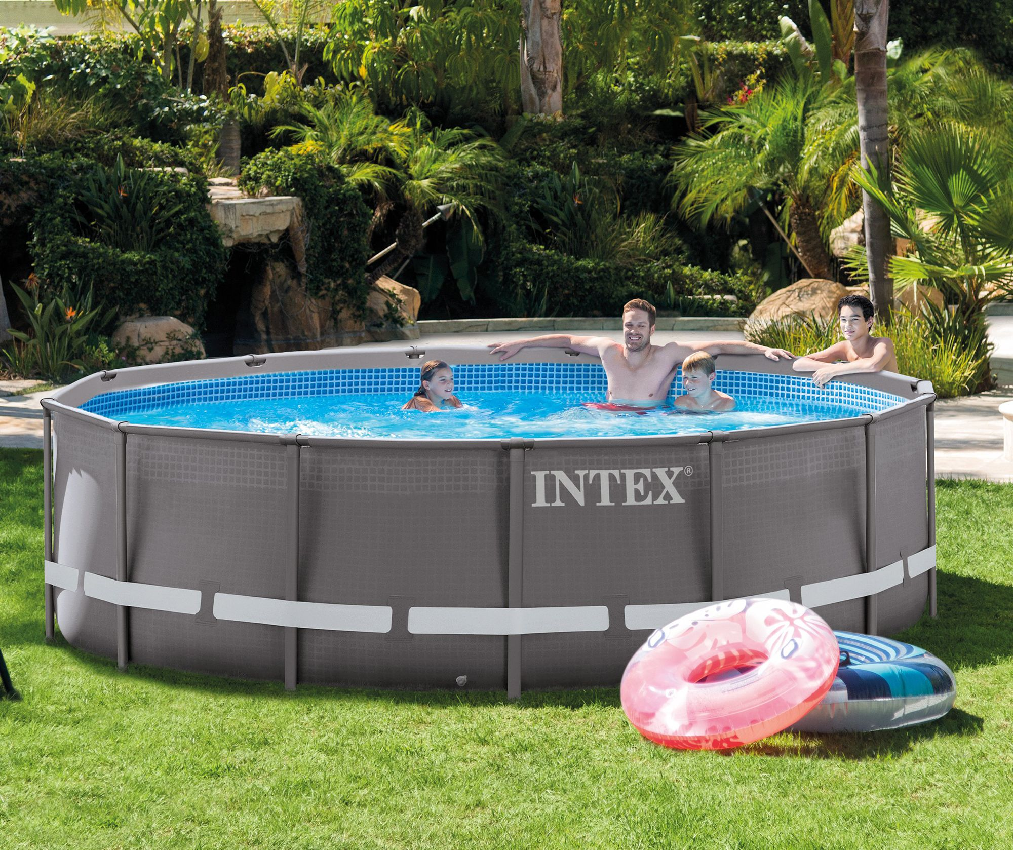 This Pool Measuring 14 Feet In Diameter And 3 5 Feet Tall Is Big Enough For Everyone To Enjoy Best Above Ground Pool Intex Above Ground Pools In Ground Pools