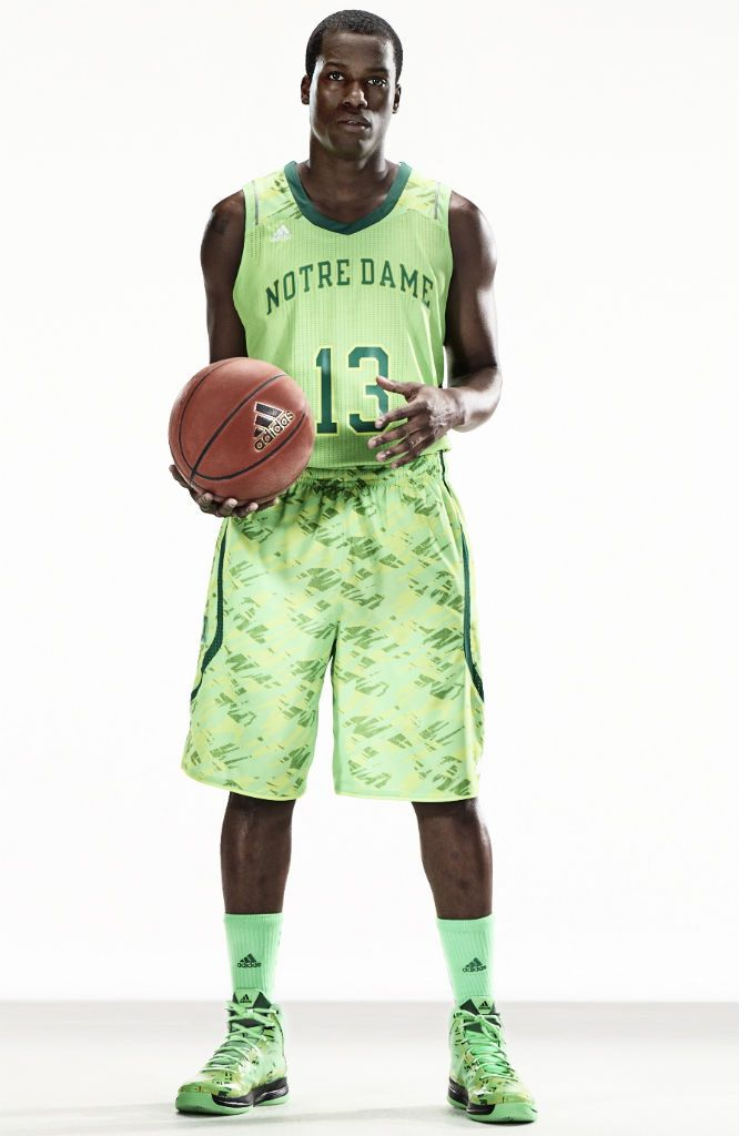 70dcf163050 adidas Unveils adizero NCAA Basketball Uniforms For Six Teams - Notre Dame  Fighting Irish