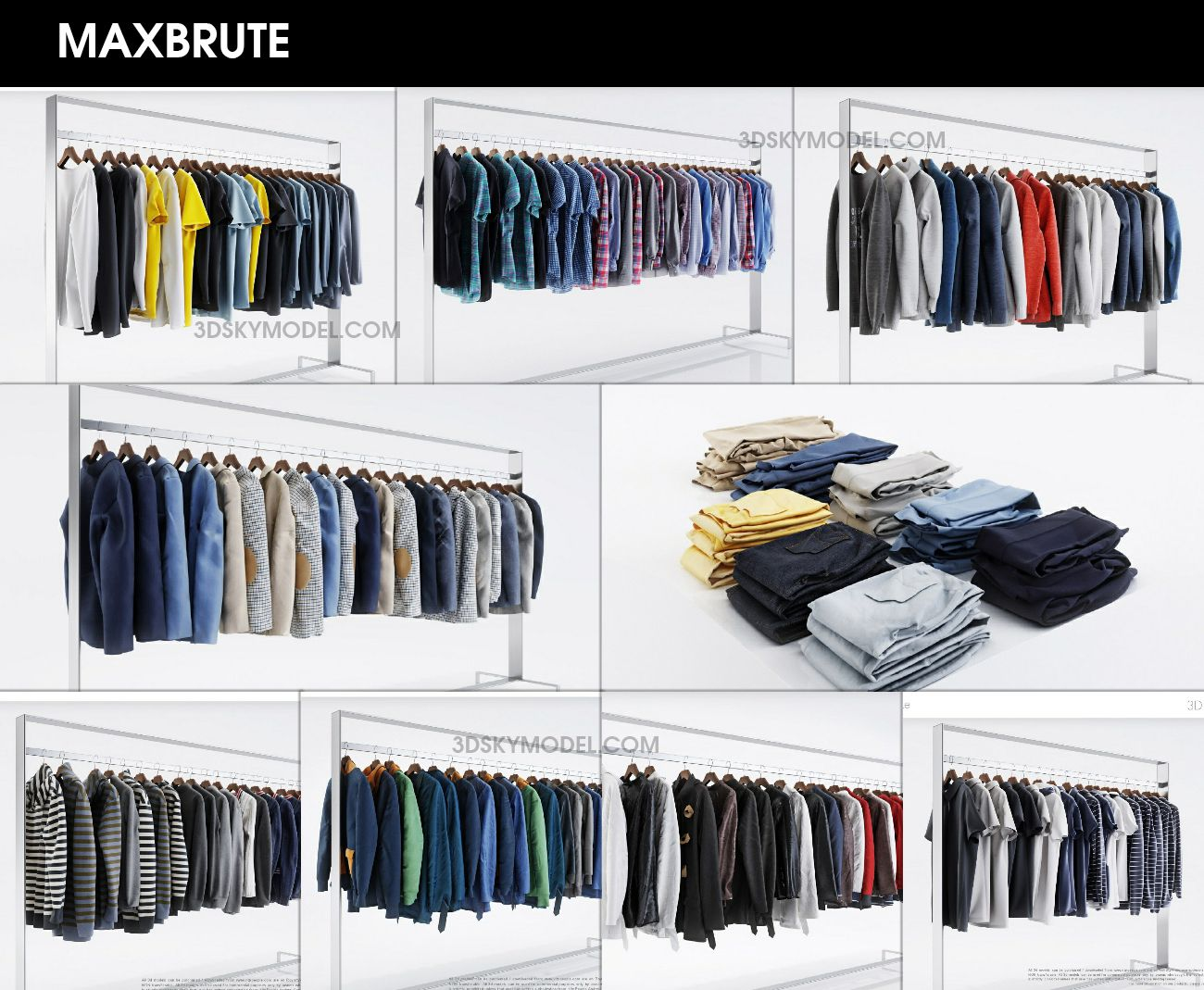 CLOTHES 2- Quần áo 3dsmax - Maxbrute Furniture Visualization