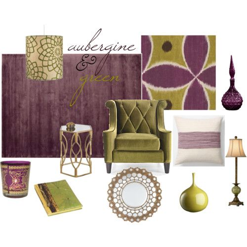 Aubergine Green For The Home Pinterest Living Rooms Open Concept And Room