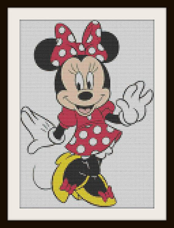 Minnie Mouse Cross Stitch Pattern by PhotoCrossStitch on Etsy, $5.00