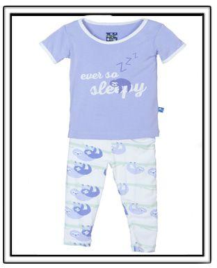b1f7cb9683c7 PREORDER-KicKee Pants Natural Sloth 2pc Pajama Set-kickee pants ...