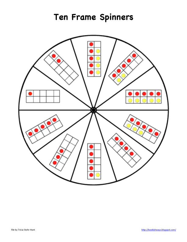 Here's a set of ten frames spinners. You'll find three