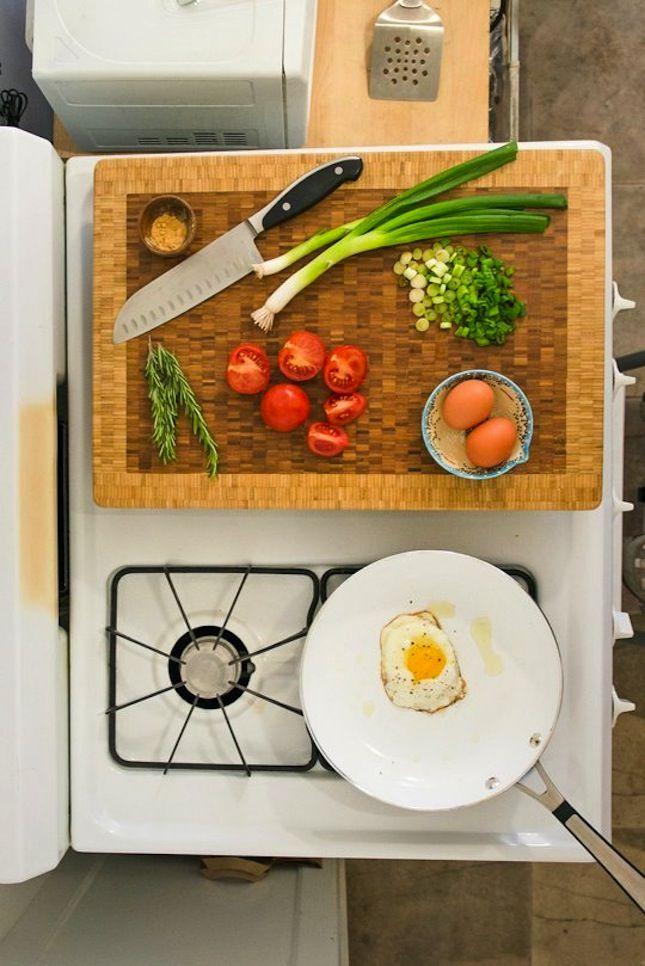 16 Ways To Work Around Little To No Counter Space In Your Kitchen Via Brit +
