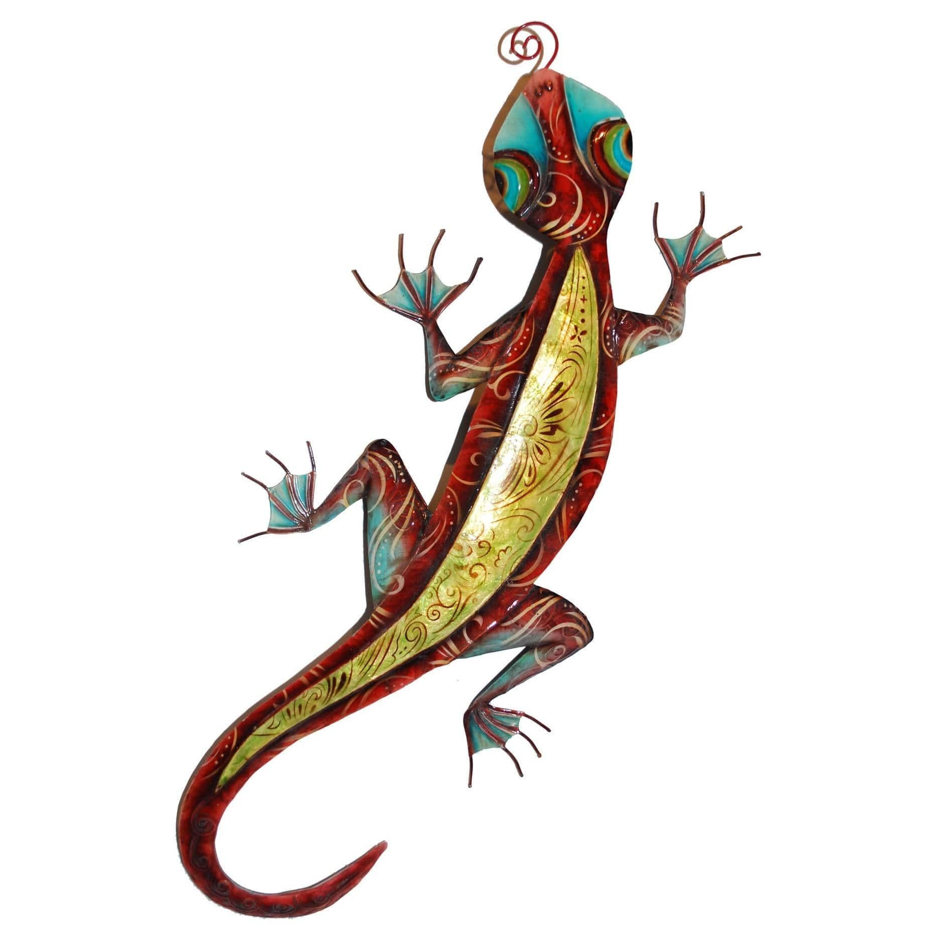 Eangee handcrafted colorful gecko wall art handmade in philippines