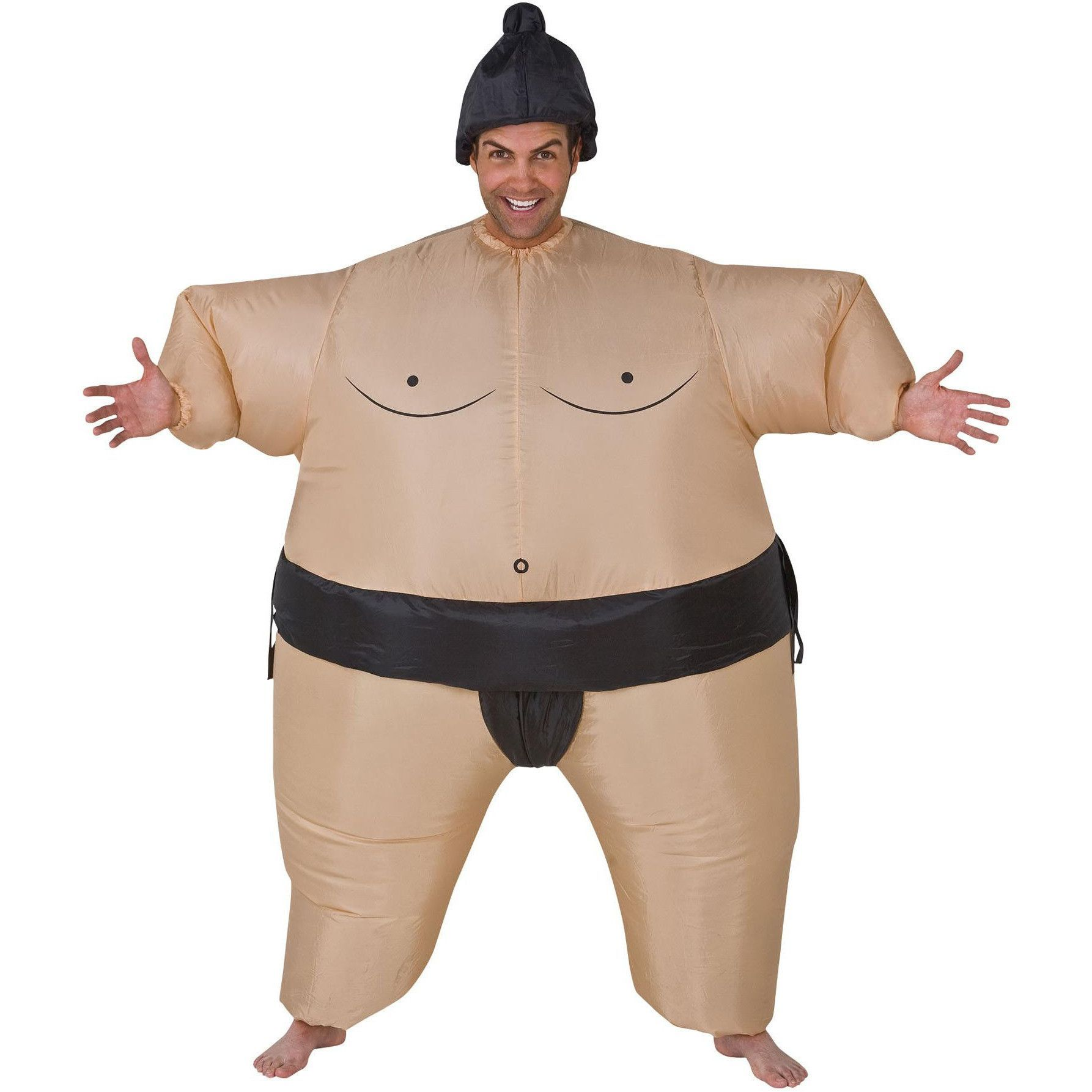 Inflatable Wrestling Sumo Cosplay Costume Fat Suit Halloween Party Fancy Dress