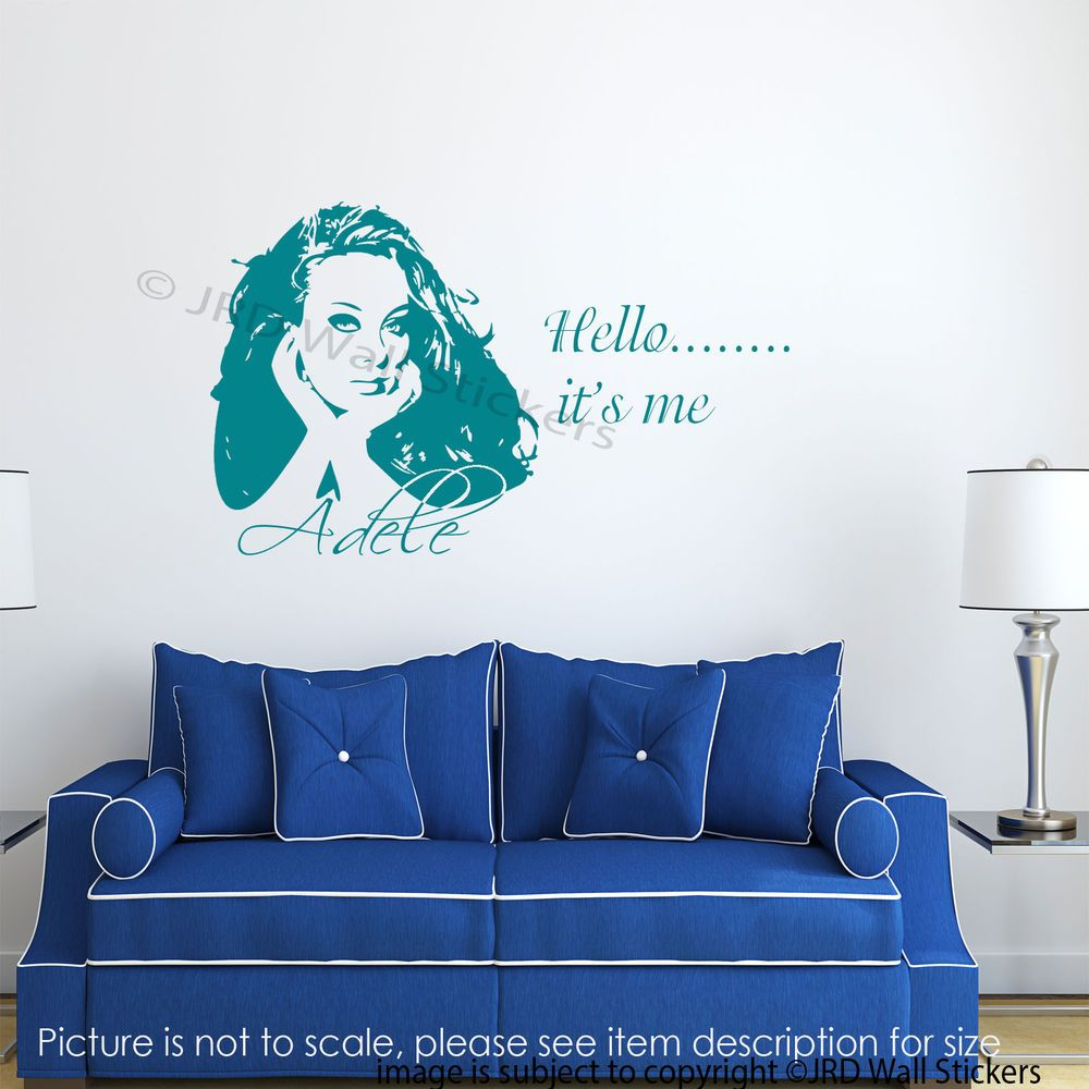 Adele wall stickers celebrity wall art vinyl decal adele hello adele wall stickers celebrity wall art vinyl decal adele hello it s me mural amipublicfo Image collections