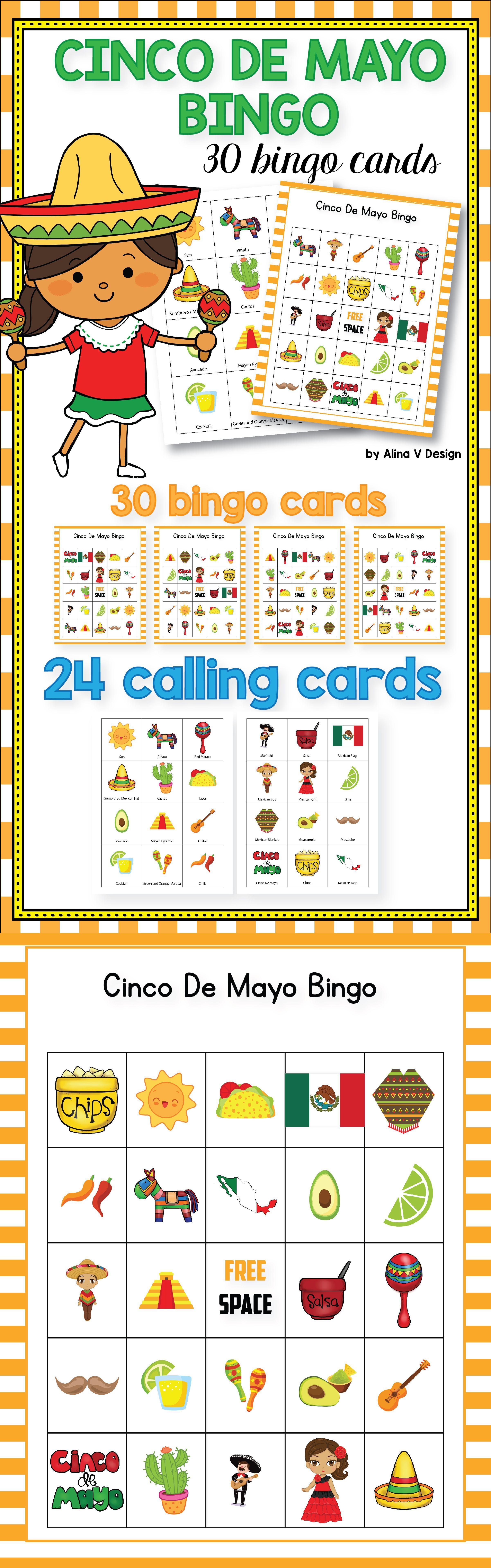 Cinco De Mayo Bingo Printable Is The Perfect Activity For