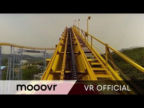 Mega Coaster Get Ready For The Drop 360 Video Youtube