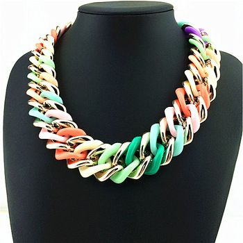 chunky colorful necklace - Google Search
