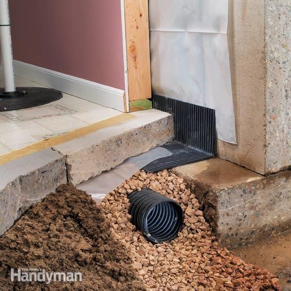 Drying A Wet Basement Drain Tile The Family Handyman