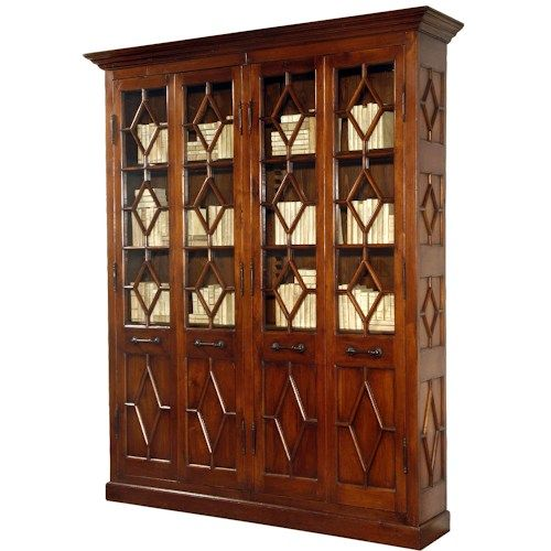Sarreid Ltd Home Office Four Door Colonel Ebirt Bookcase