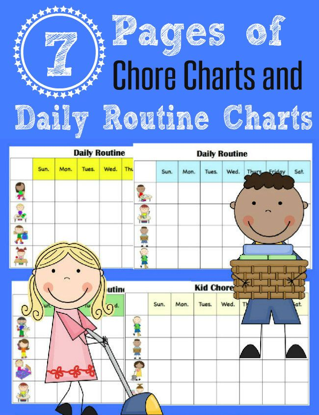 10 Minutes to Clean and FREE Printable Chore Charts for Kids - sample holdem odds chart template