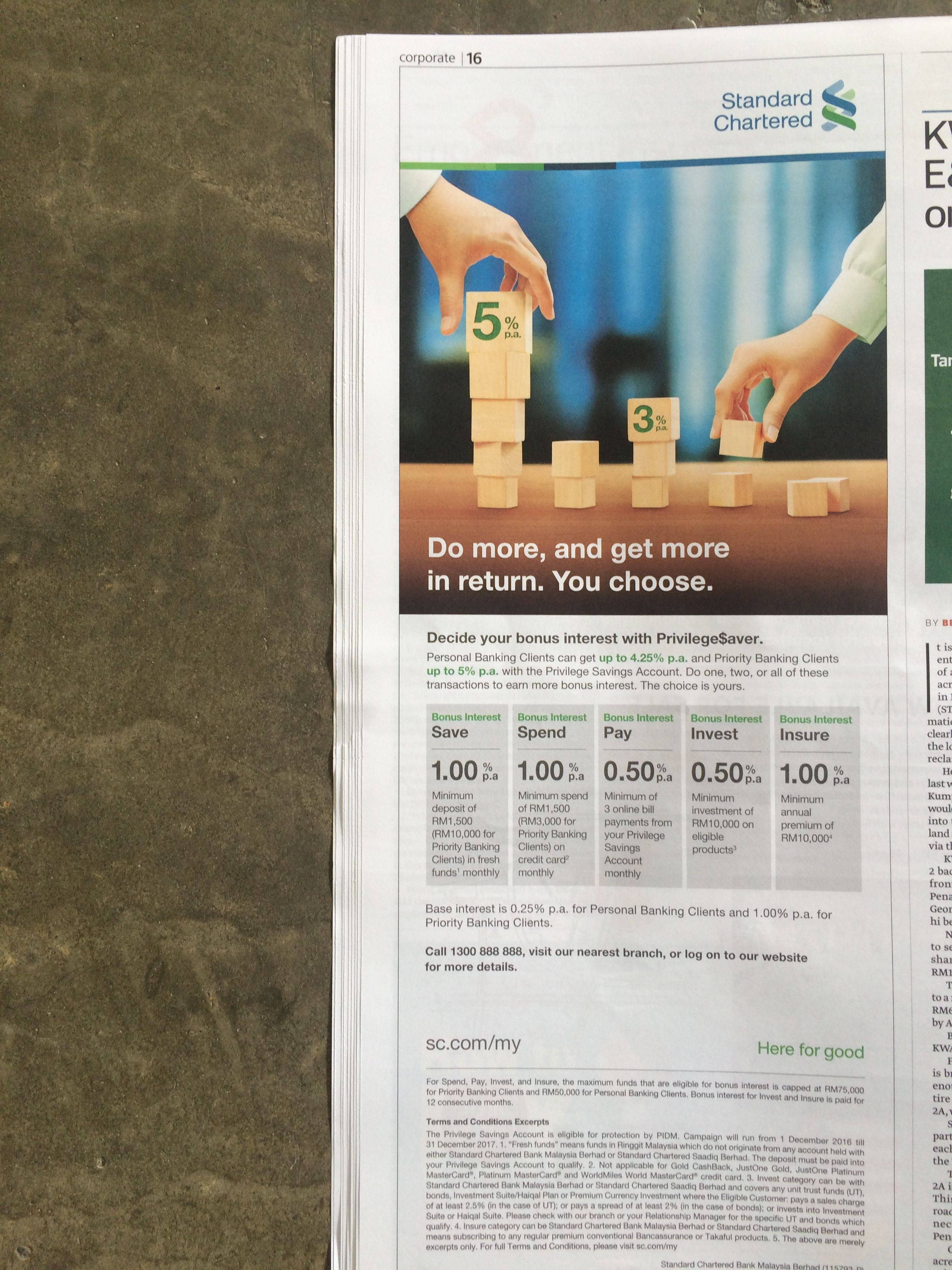 Standard Chartered Malaysia Ads Bank Banks Ads Personalized Bank Savings Account