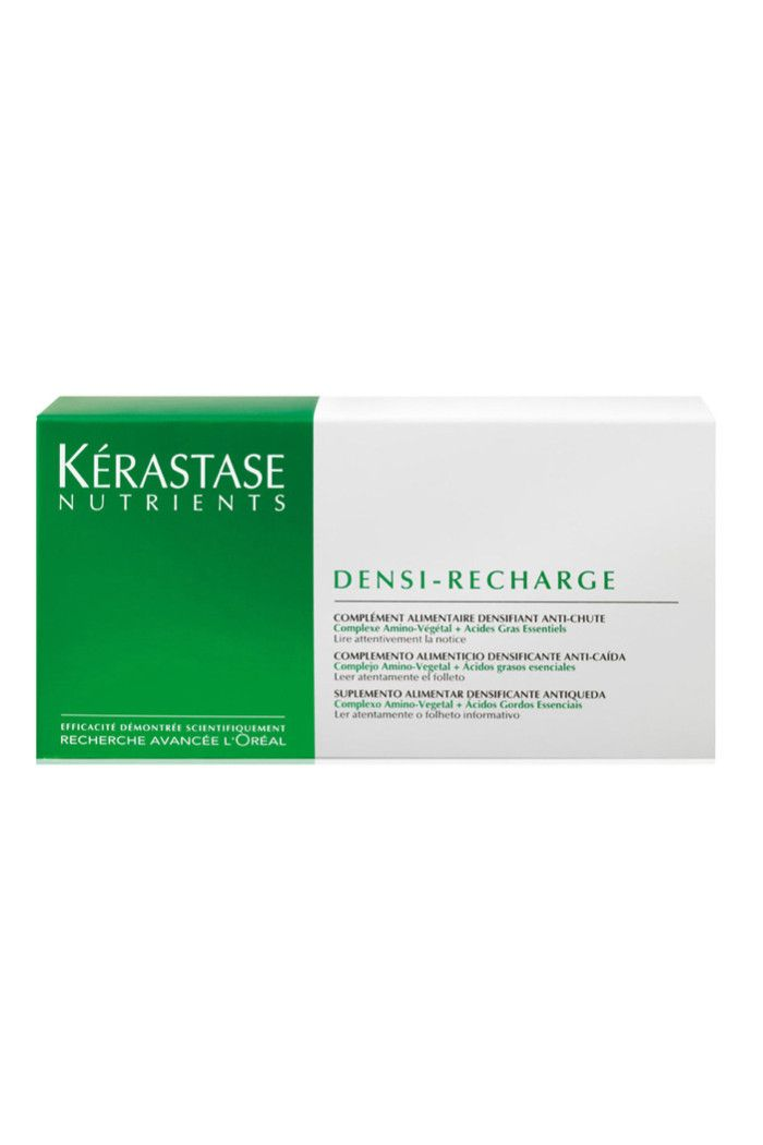 The Best Ones To Buy | Beauty | Grazia Daily- 5/5 Kerastase Nutrients Densi-Recharge, £20: With results visible in just 8 weeks, this clever duo-formula will strengthen the hair fibre by up to 77%. Simply take 2 tablets a day- the green one contains an amino-vegetal complex to protect the hair bulb and the purple one contains a blend of 5 essential fatty acids.