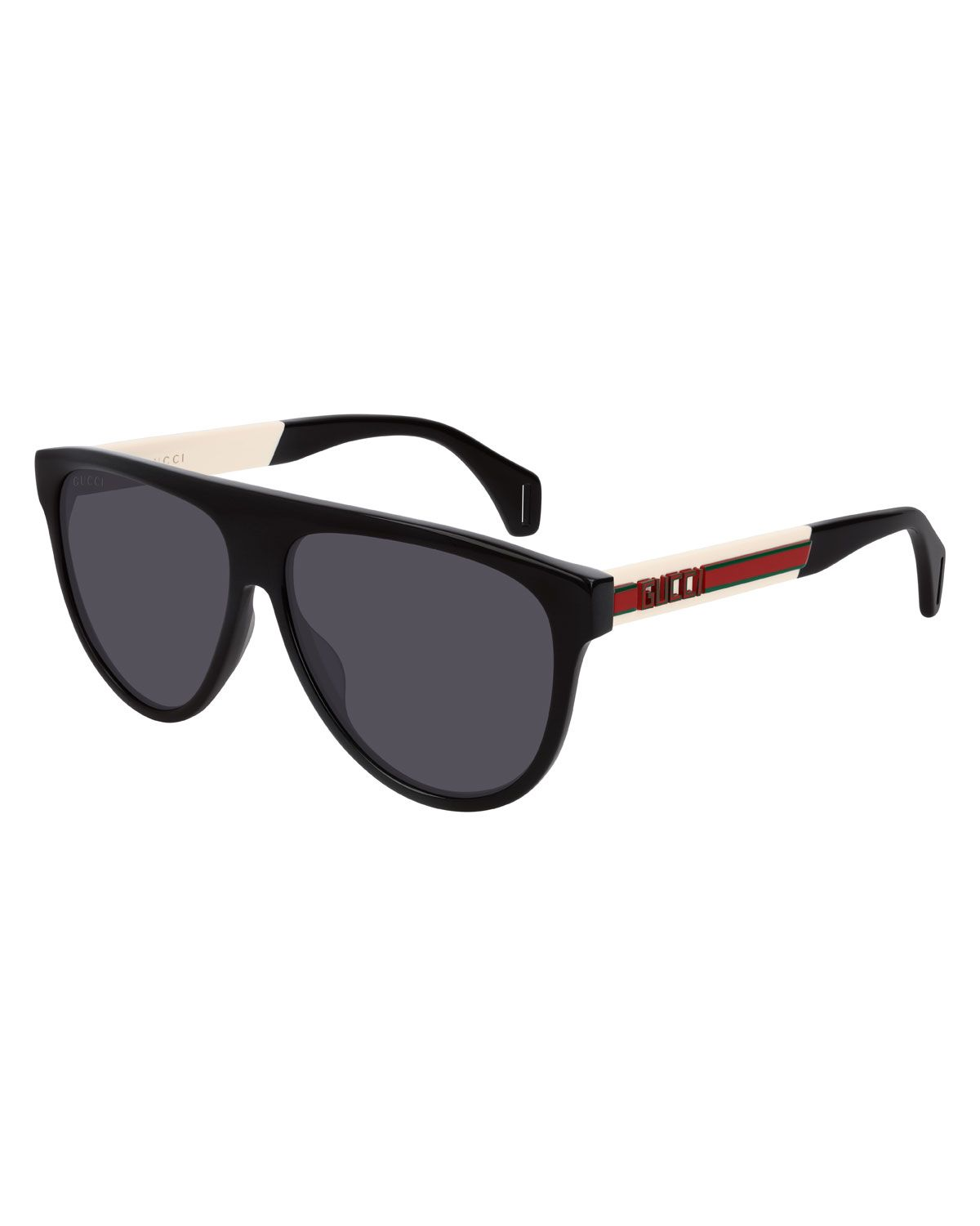 0b7a3fd196ca GUCCI MEN'S NYLON FLAT-TOP ROUNDED SUNGLASSES. #gucci | Gucci in ...