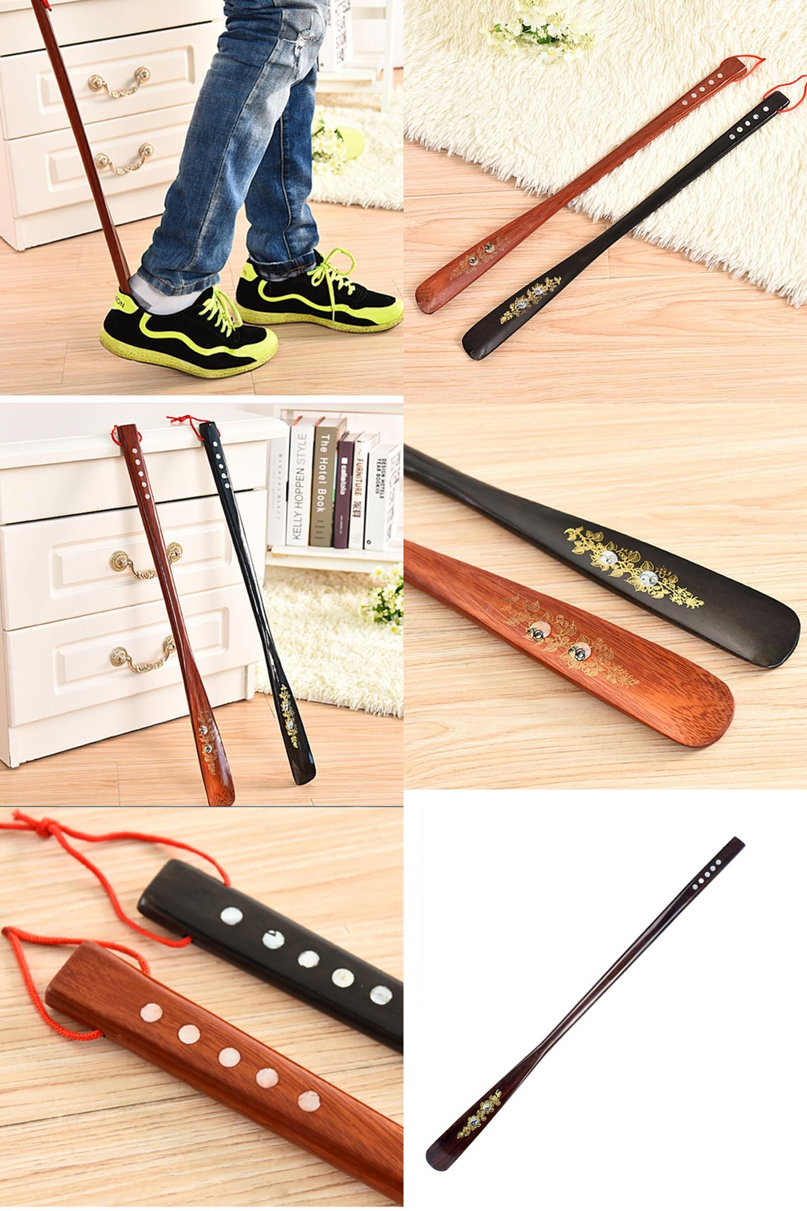 Visit To Buy 55cm Mahogany Craft Wooden Shoe Horn Professional