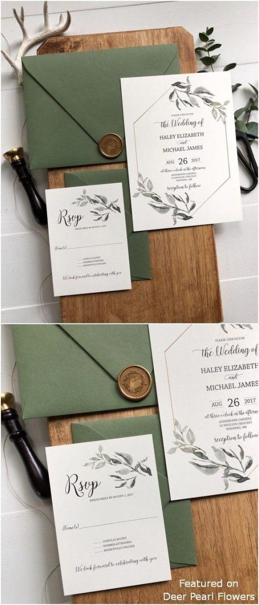 Greenery Wedding Invitations #modernrusticdecor