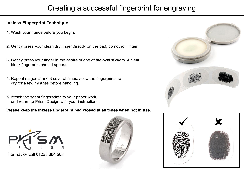 How to create the perfect fingerprint for laser engraving on your jewellery. #fingerprint #jewellery #jewelry #titanium #laser #engraving #madeinuk #prismdesign #ti2titanium  www.ti2titanium.com