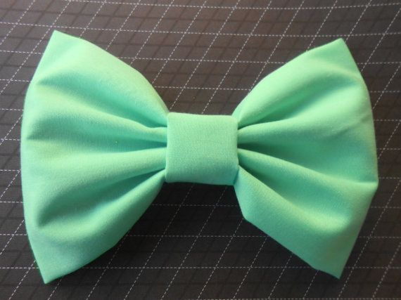 Mint Hair Bow, Hair Bows For Girls, Mint Hairbow, Kawaii Bow, Hair Bows For Women, Baby Bows, Mint fabric, Fabric Hair Bow, Big Bow