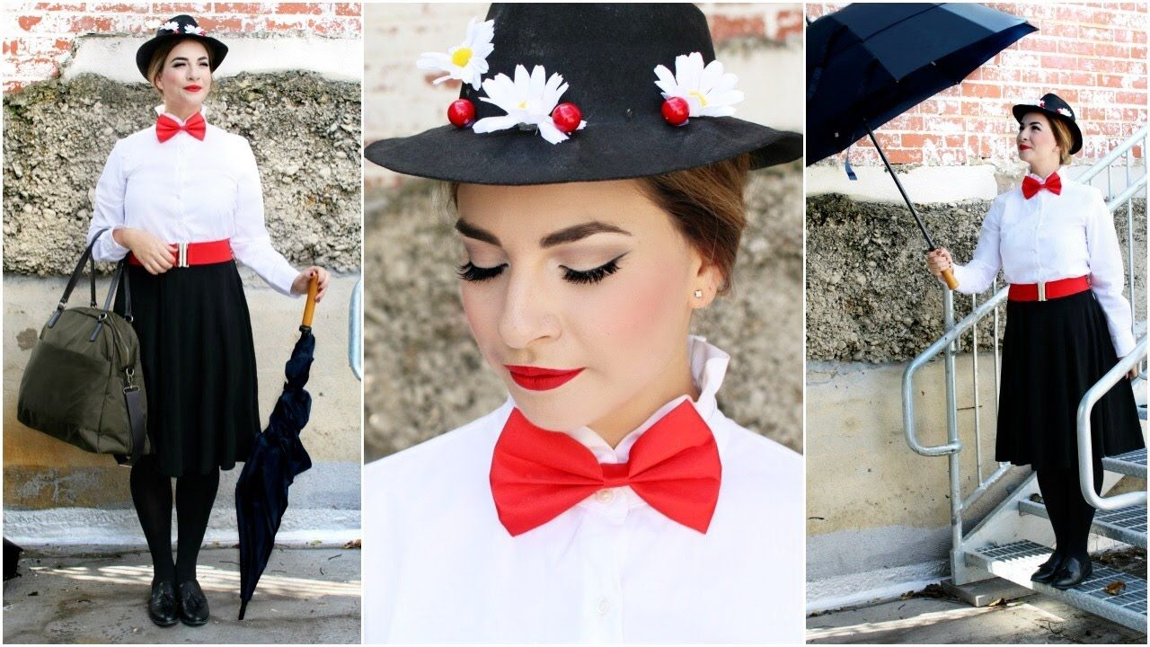 Mary Poppins Diy Costume Hair Makeup Diy Mary Poppins Costume Mary Poppins And Bert Costume Mary Poppins Costume