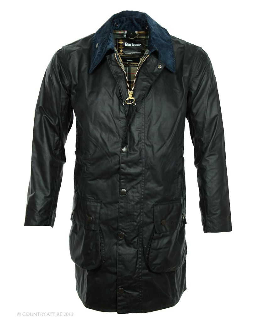 Barbour Men's Border Wax Jacket - Navy MWX0008NY91 (A201)
