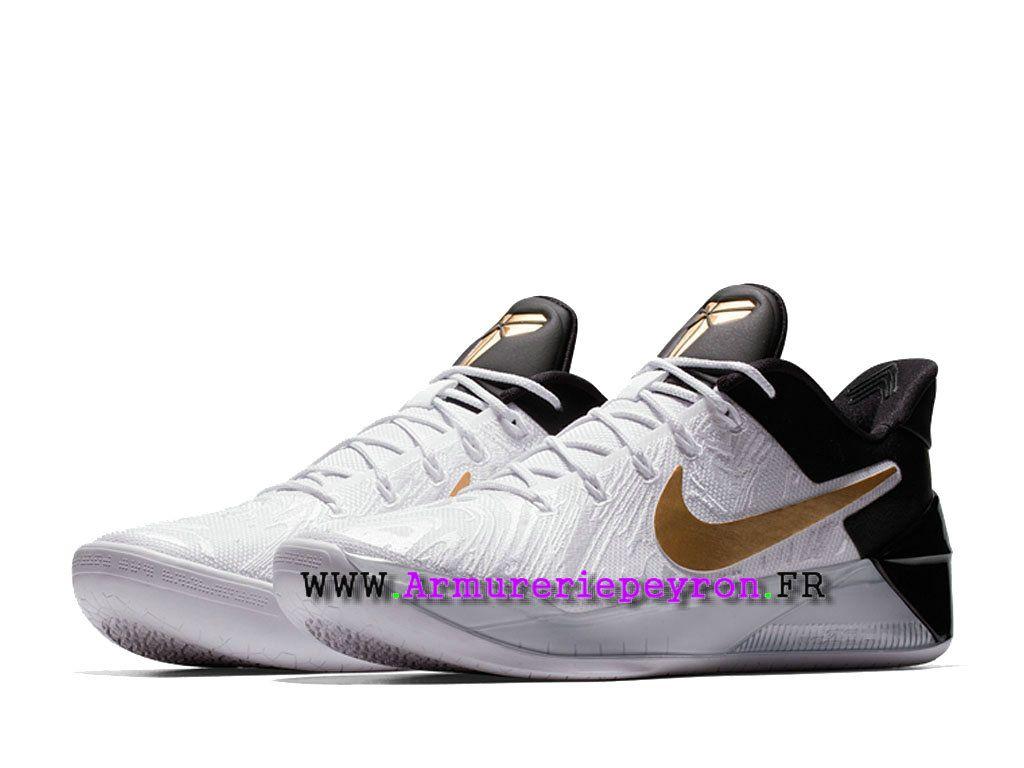 more photos 32eef 4a2a5 Chaussures De BasketBall Nike Kobe A.D.BHM Prix HOmme Pas Cher NOirBlancOr