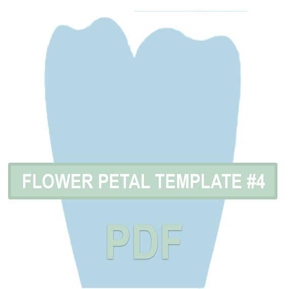 Flower Petal Template  Pdf  Ideias    Flower Petal