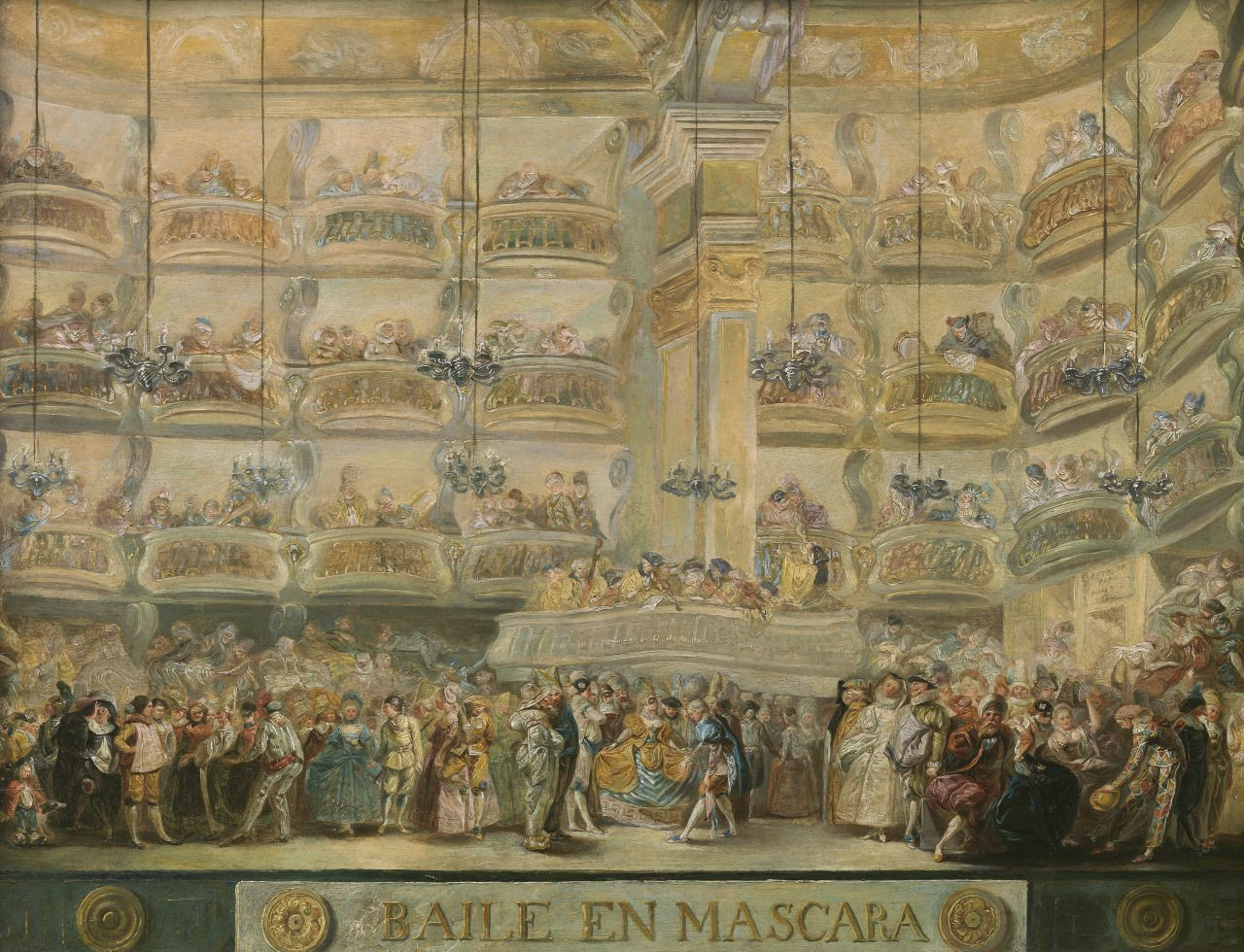 Masked Ball, 1767 byLuis Paret y Alcázar (Spanish, 1746–1799)