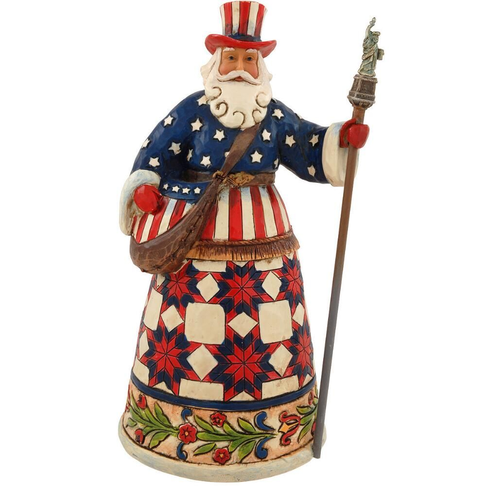 Perfectly Festive In All Fifty States American Santa Jim Shore Figure $35.00