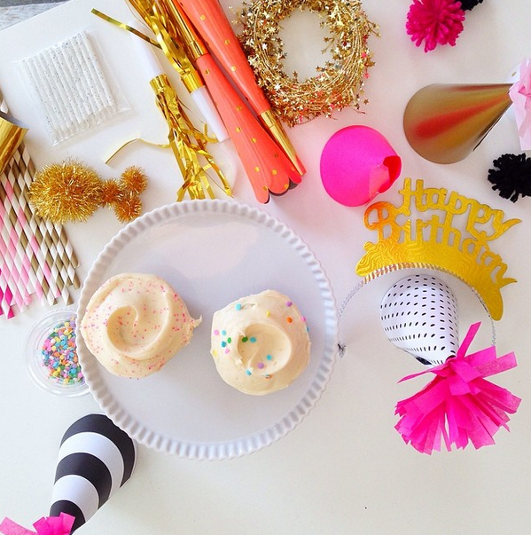 Keep a collection of party horns, hats, and other festive little items for last minute celebrations! (via @Kay Richards Little Paper's instagram)