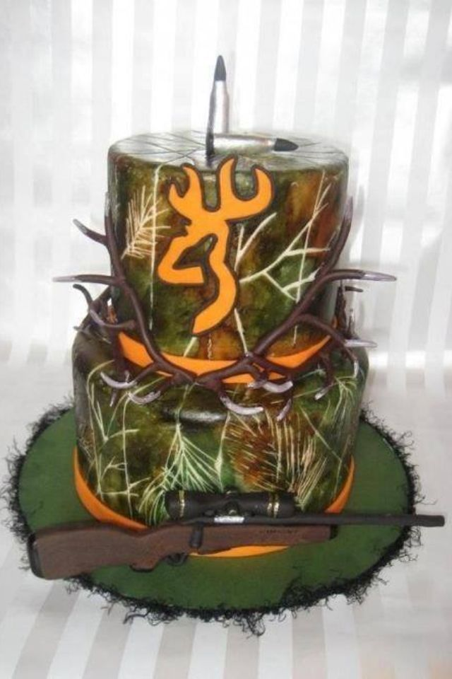 Awesome Hunting Camo Birthday Cake Hunting Cake Hunting Birthday Camo Funny Birthday Cards Online Overcheapnameinfo