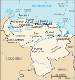 Geography Of Venezuela Mapa