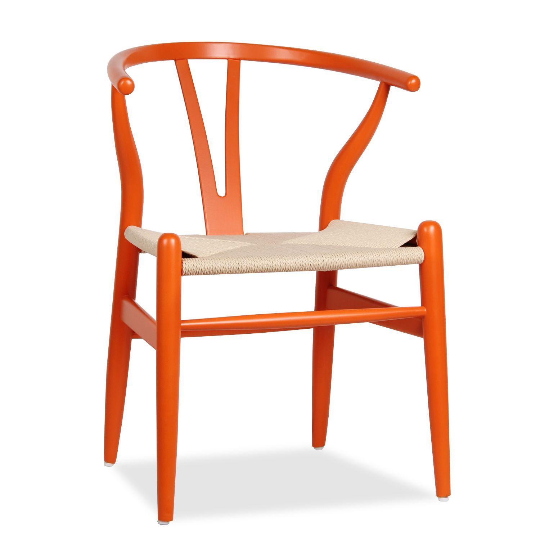 silla fer orange beech sillas de madera wishbone sillas de diseo