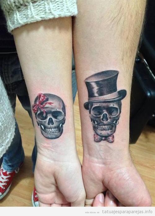 Calaveras En La Muñeca Tatuaje Para Parejas Tatoo Pinterest