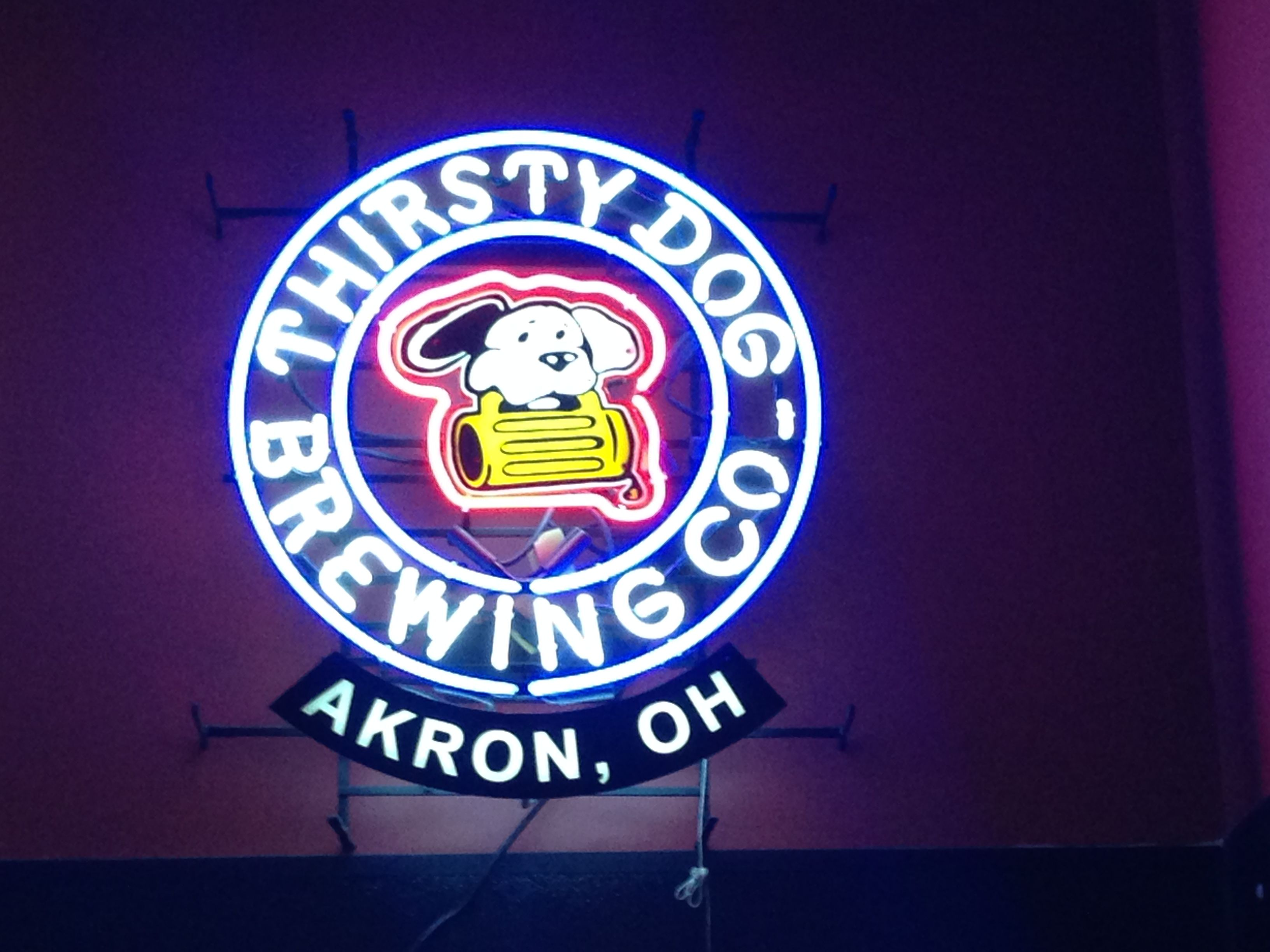 Neon Beer Sign Thirsty Dog Brewing Co Akron Ohio Neon
