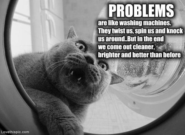 Problems Are Like Washing Machines Life Quotes Funny