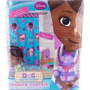 Disney Junior Doc McStuffins Bathroom Shower Curtain Girls Kids