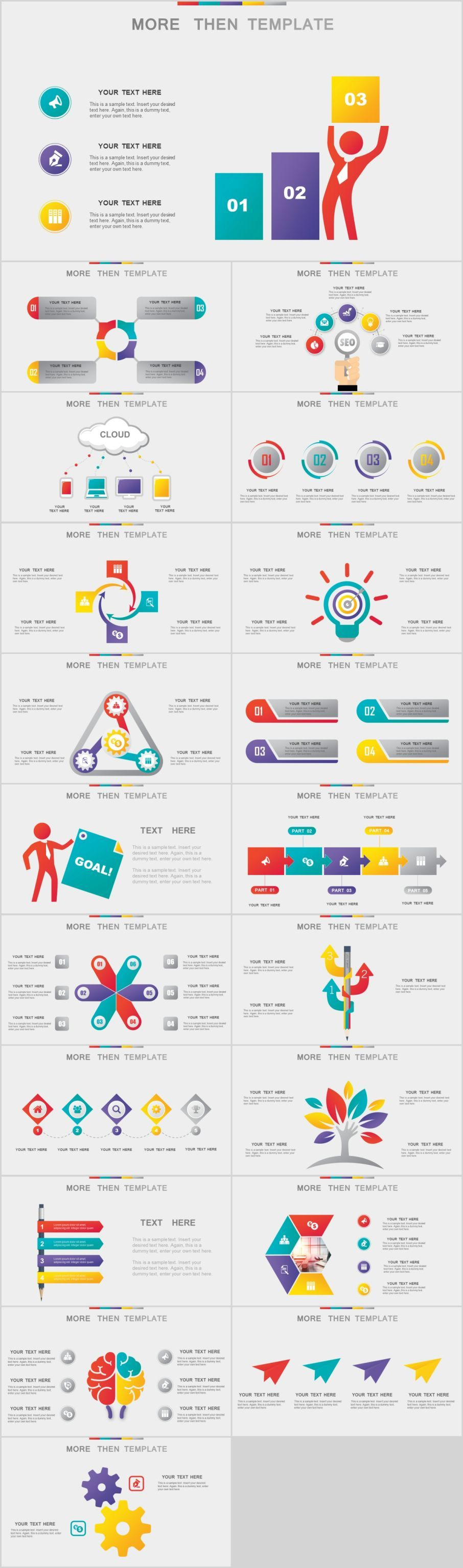 20 Best multicolor Infographics PowerPoint templatesThe highest quality PowerPoint Templates and Keynote Templates download