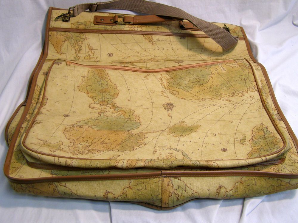 The columbus collection stowaway garment bag travel luggage world the columbus collection stowaway garment bag travel luggage world map design in luggage ebay gumiabroncs Gallery