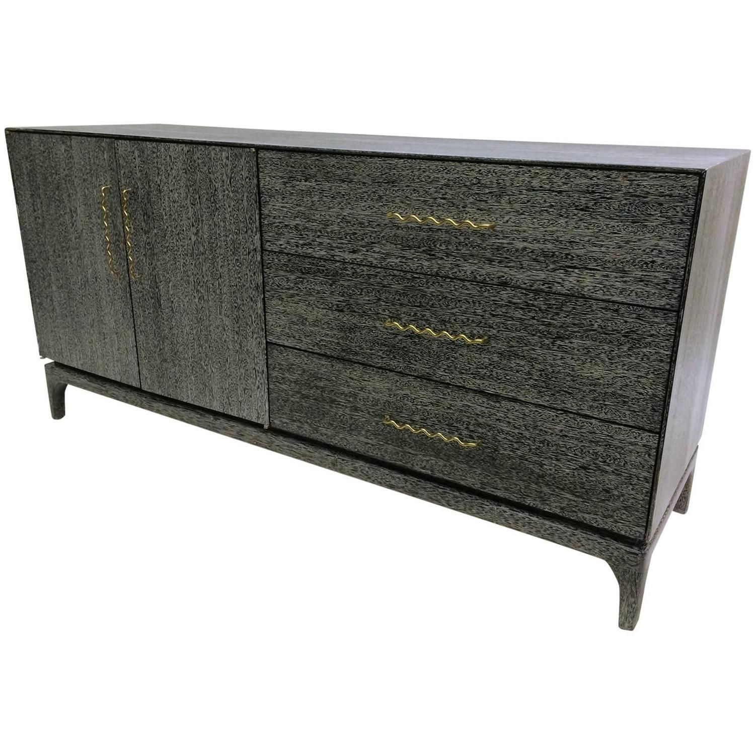 Chic Cerused Credenza By John Keal For Brown Saltman