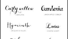 10 AWESOME CALLIGRAPHY FONTS